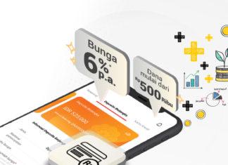 deposito online bunga 6%